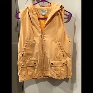 Talbots Sleeveless draw string  vest with hoodie